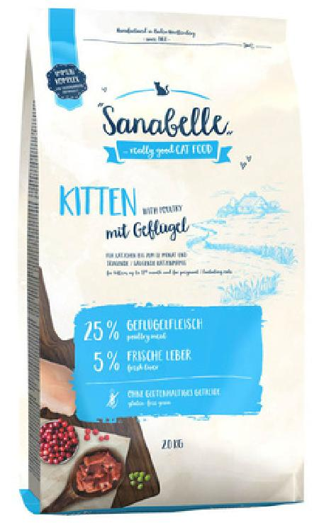 Sanabelle Kitten корм для котят с птицей 2 кг