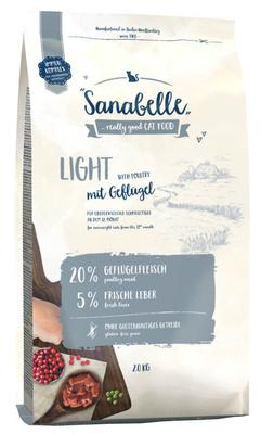 Sanabelle Light низкокалорийный корм для кошек с избыточным весом с птицей 10 кг