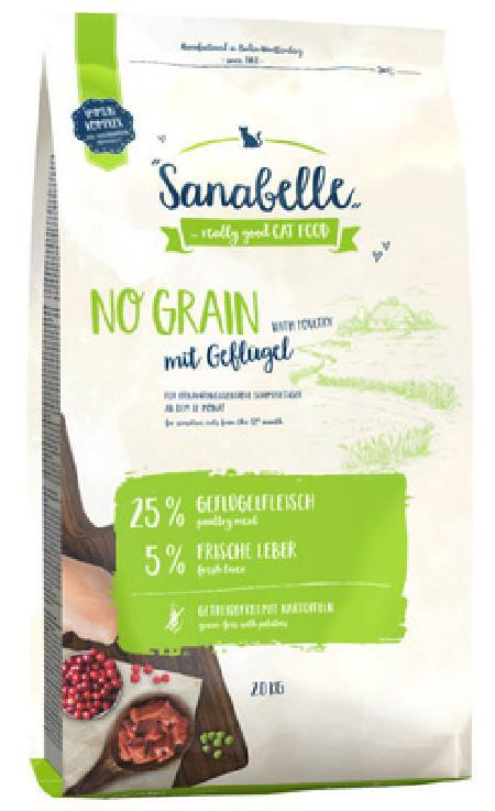 Sanabelle No Grain беззерновой корм для кошек с чувствительным пищеварением с птицей 2 кг