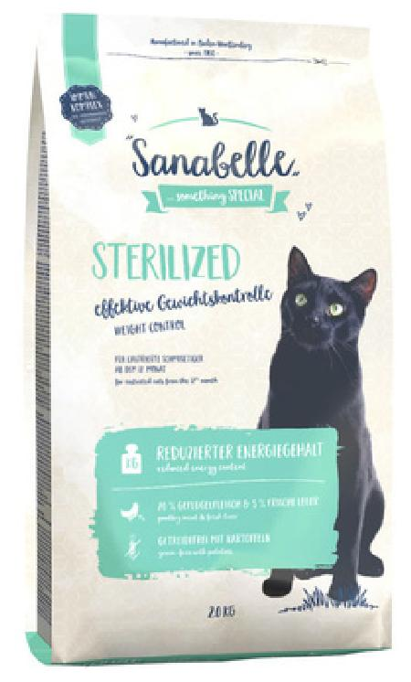 Sanabelle Sterilized корм для стерилизованных кошек с птицей 400 гр
