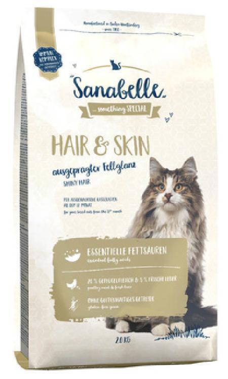 Sanabelle Hair&Skin корм для кошек, для кожи и шерсти с птицей 2 кг