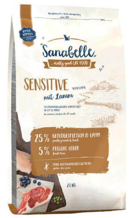 Sanabelle Sensitive Lamb корм для кошек с чувствительным пищеварением с ягненком 2 кг