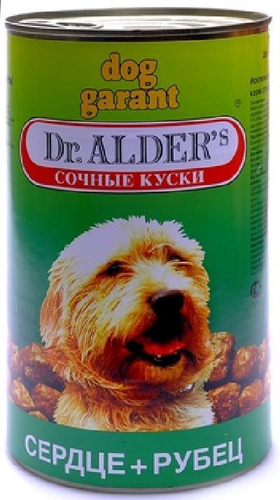 Доктор Алдерс Консервы для собак кусочки в желе с сердцем и рубцом (6490)/11555, 1,230 кг, 19108