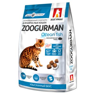 Зоогурман корм для взрослых кошек всех пород, телятина 350 гр