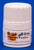Вазотоп Р 0,625мг Кардиопрепарат для лечения сердечно-сосудистой недостаточности 28таб