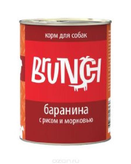 Brunch влажный корм для собак всех пород и возрастов, баранина с рисом и морковью 340 гр