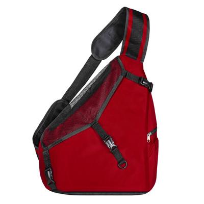 Yami-Yami ВИА Рюкзак-переноска однолямковый (2 кармана, нейлон Кордюра, поролон) красный 37*22*38см я9051красн, 0,470 кг, 38144