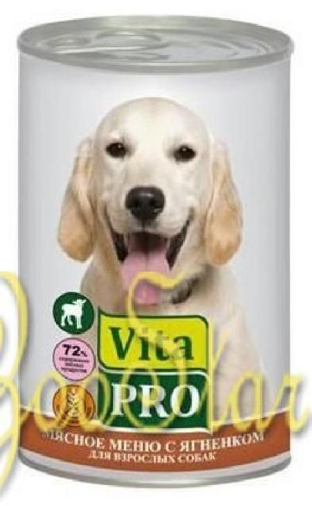 VitaPRO влажный корм для взрослых собак всех пород, ягненок 400 гр