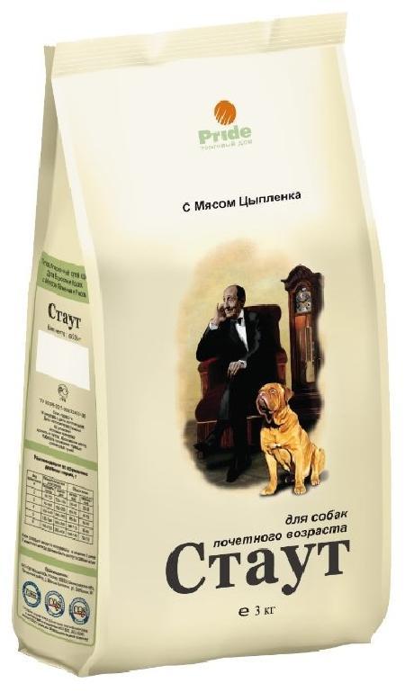Стаут корм для пожилых собак всех пород, мясо 3 кг