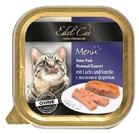 Edel Cat влажный корм для взрослых кошек всех пород, с лососем и форелью 100 гр, 900100784