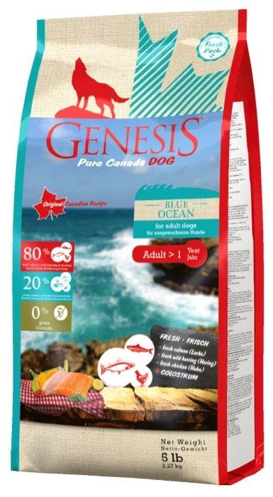 Genesis корм для взрослых собак всех пород, сельдь и курица 2,268 кг