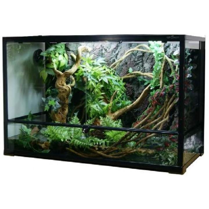 0120RK Террариум REPTIZOO 91х45х60см сборный стеклянный с распашными дверцами