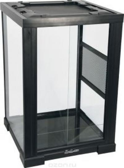 2802RH Террариум REPTIZOO 40х40х60см неразборный стеклянный с  раздвижными дверцами