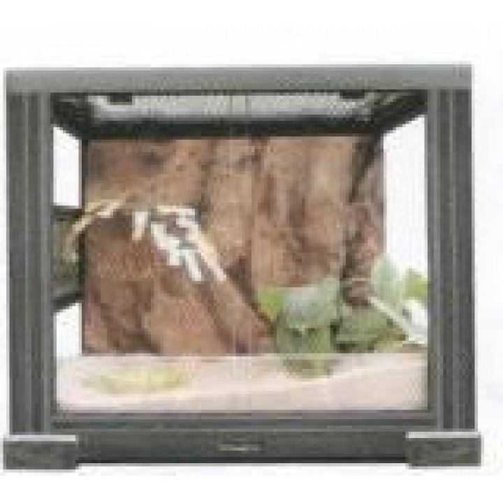 2808RH Террариум REPTIZOO 60х48х65см неразборный стеклянный с  раздвижными дверцами