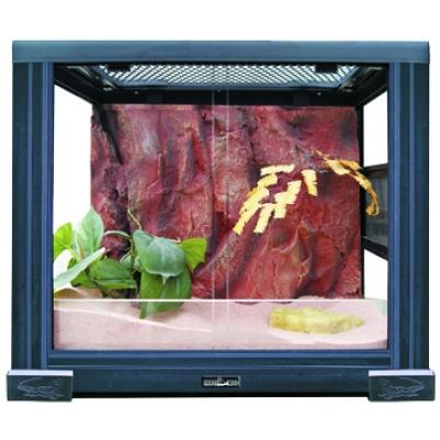 2820RH Террариум REPTIZOO 30х30х30см неразборный стеклянный с  раздвижными дверцами, 83625012