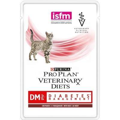 Purina (вет. корма) Паучи Кусочки в соусе для кошек при сахарном диабете с говядиной (Feline DM) 12381672/12308817, 0,085 кг