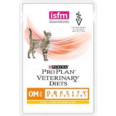 Purina (вет. корма) Паучи Кусочки в соусе для кошек лечение ожирения (OM) 12308819/12381674, 0,085 кг