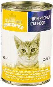 Chicopee влажный корм для кошек всех пород, с кусочками курицы в соусе 400 гр