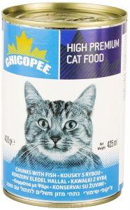 Chicopee влажный корм для кошек всех пород, с кусочками рыбы в соусе 400 гр