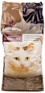 Chicopee корм для взрослых кошек всех пород, гипоаллергенный, с ягненком и рисом 15 кг