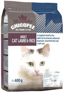 Chicopee корм для взрослых кошек всех пород, с ягненком и рисом 400 гр