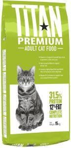 Titan Premium корм для взрослых кошек всех пород 15 кг