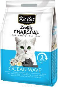 Kit Cat Кит Кэт цеолитовый комкующийся наполнитель с ароматом океанского бриза / Kit Cat Zeolite Charcoal Ocean Wave 4 кг, KC-316