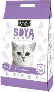 Кит Кэт соевый биоразлагаемый комкующийся наполнитель Лаванда / Kit Cat SoyaClump Soybean Litter Lavender 2,2 кг 7 л