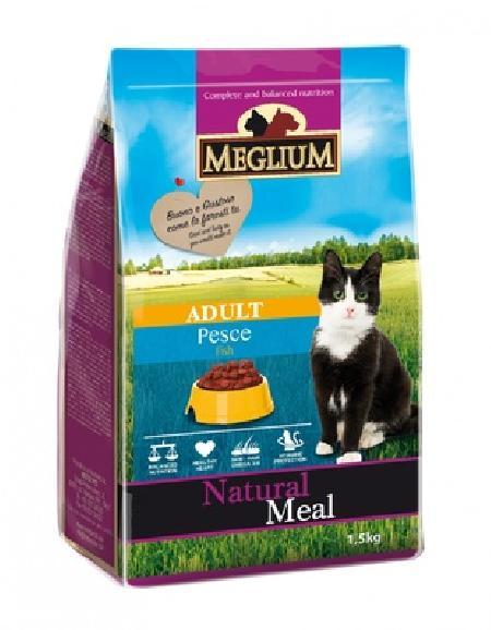 Meglium корм для кошек с чувствительным пищеварением, рыба 1,5 кг