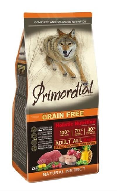 Primordial корм для взрослых собак всех пород, буйвол, макрель 400 гр