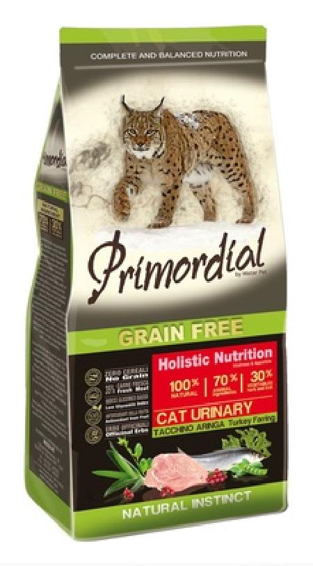 PRIMORDIAL Беззерновой корм для кошек при МКБ с индейкой и сельдью 64778, 2,000 кг