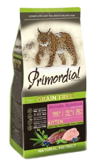 PRIMORDIAL Беззерновой корм для котят с  уткой и  индейкой 65005, 0,400 кг