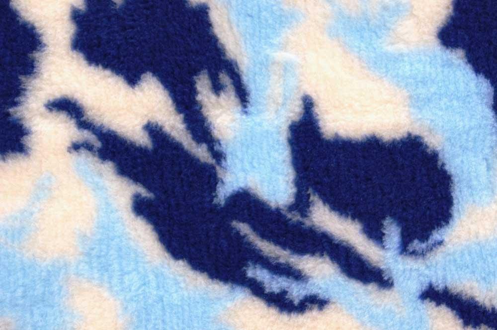 ProFleece коврик меховой 1х1,6 м камуфляж синий/голубой/белый, PF012
