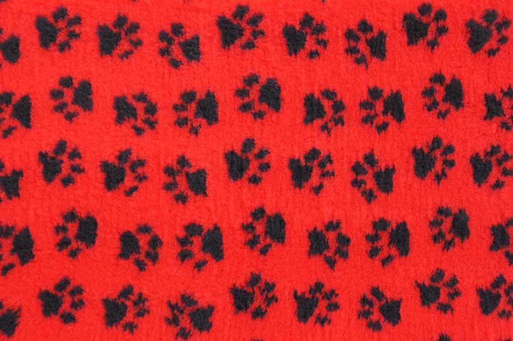 ProFleece коврик меховой 1х1,6 м красный/черный