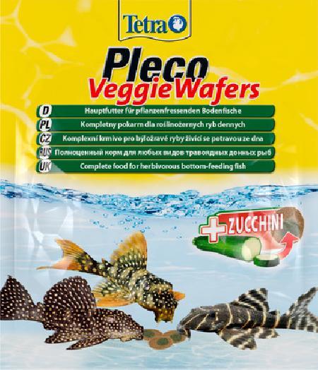 Tetra (корма) ВИА Корм для травоядных донных рыб, пластинки с цукини Tetra Pleco VeggieWafers 2818820, 1,895 кг