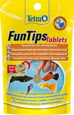 Tetra (корма) ВИА Корм для всех видов тропических рыб FunTips Tablets 20 табл. 254305, 0,008 кг