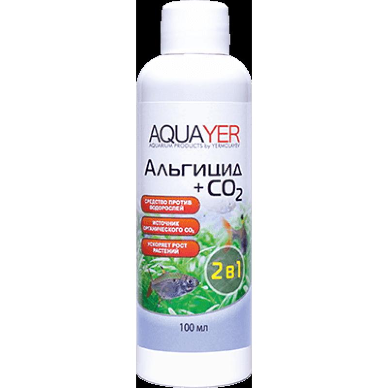 AQUAYER Альгицид+СО2, 100мл (против зеленых водорослей и черной бороды) 148