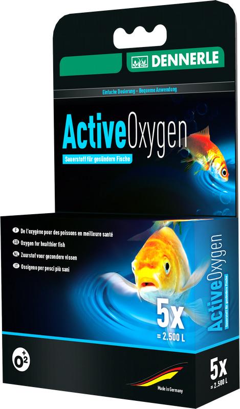[281.3414]  Dennerle Oxygen Activ Tabs - С-во для мгновенной помощи задых. рыбам в сад. пруду, 5 шт.