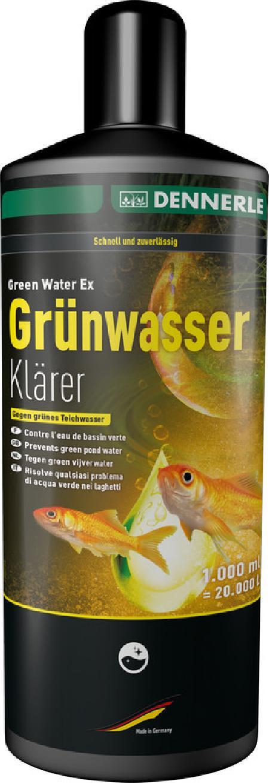 [281.3461]  Dennerle Green Water Ex 1000 - Ср-во дборьбы с плавающими водорослями в пруду 1000 мл