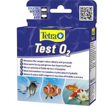 Тест Tetra Test O2, для определения уровня кислорода пресноводных и морских аквариумах