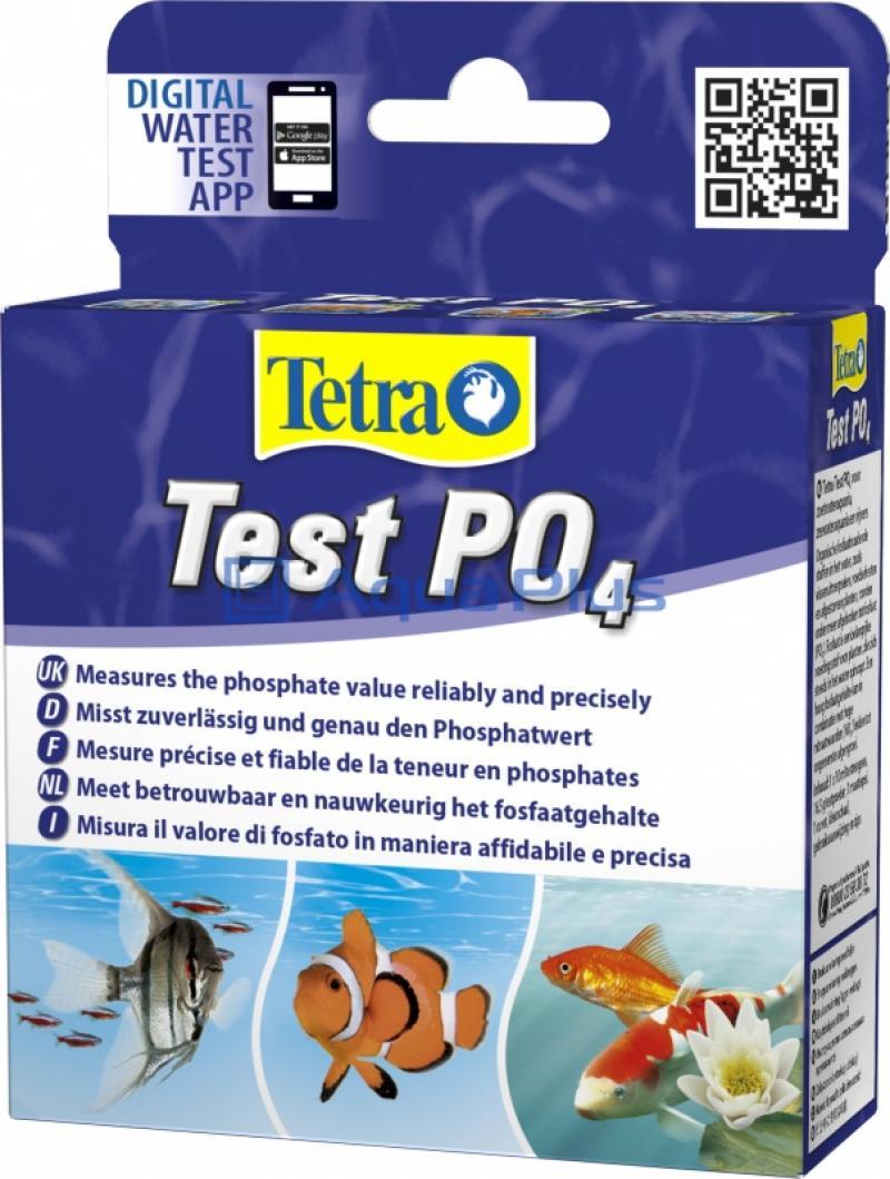 Тест Tetra Test PO4, для определения уровня фосфатов в пресноводных и морских аквариумах
