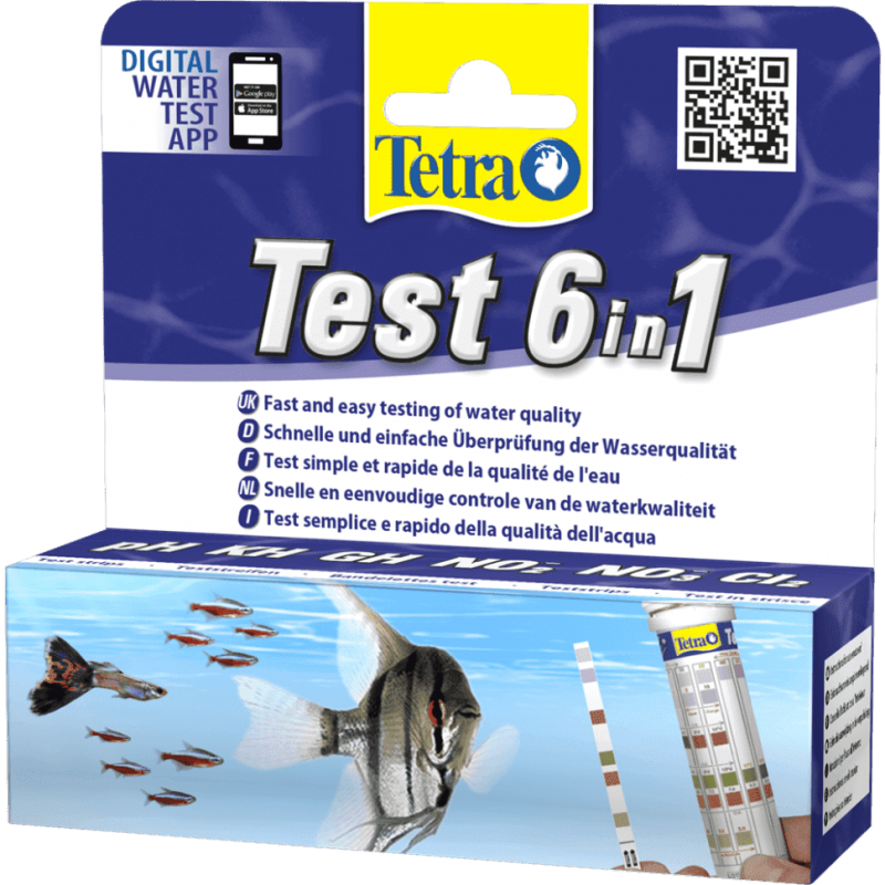 Tetra (оборудование) Тест для воды Test Strips 6 in 1 175488, 0,015 кг
