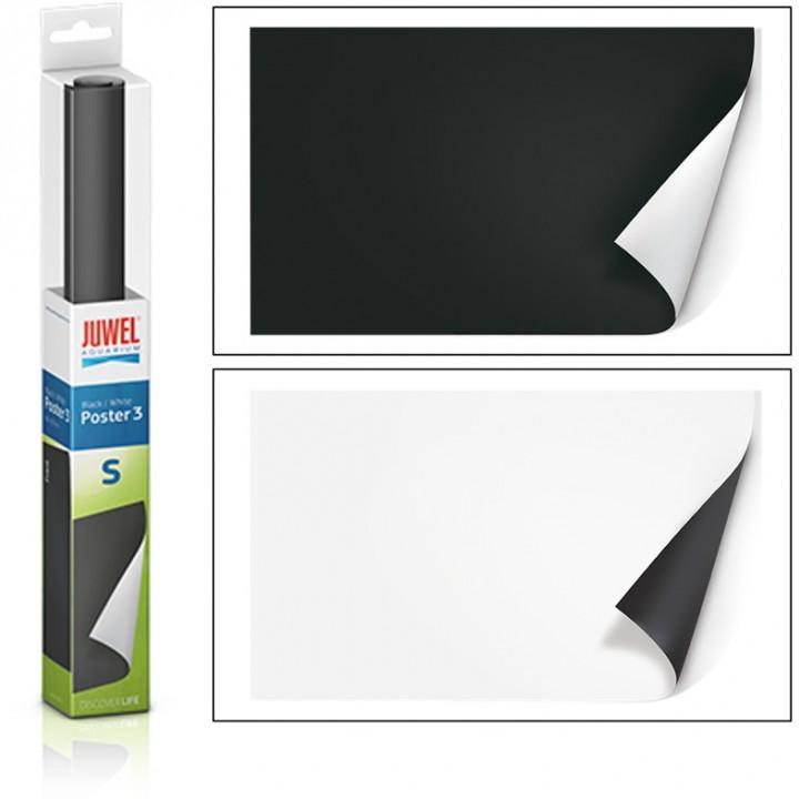 Фон-пленка Juwel Poster3 черный/белый 150х60см (86273)