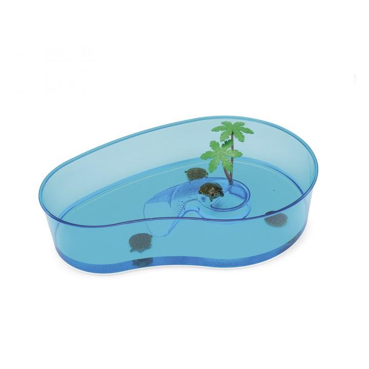 IMAC Бассейн для черепах фигурный =Virgola= 40х27х9см пластик