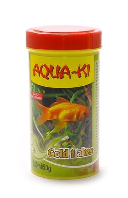 Benelux корма ВИА Корм для золотых рыбок, хлопья (Aqua-ki gold flakes   250 ml) 46806, 0,050 кг