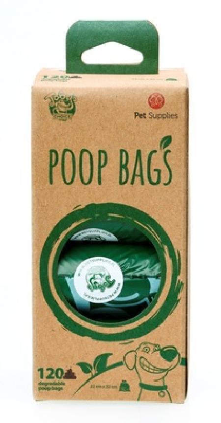 Kitty City Биоразлагаемые пакеты для уборки за питомцем, 8х15 шт. (DEGRADABLE POOP BAGS NON-SCENTED), 0,245 кг, 43034