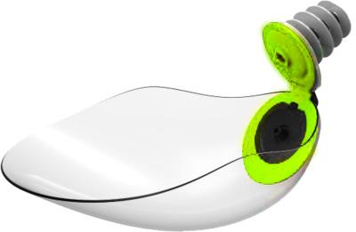 Divo  Карманная поилка-насадка для бутылок, с системой антипроливания BEVIQUI® (зеленая) BQ.1.RL.GRN, 0,040 кг, 52689