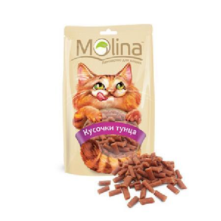 Molina лакомство для кошек, кусочки тунца 80 гр