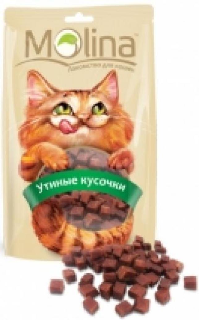Molina лакомство для кошек, утиные кусочки 80 гр