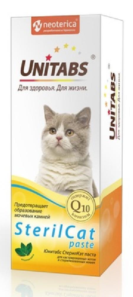 Unitabs СтерилКэт витамины с Q10 паста для кошек, профилактика мочекаменной болезни, 120мл U306, 0,140 кг